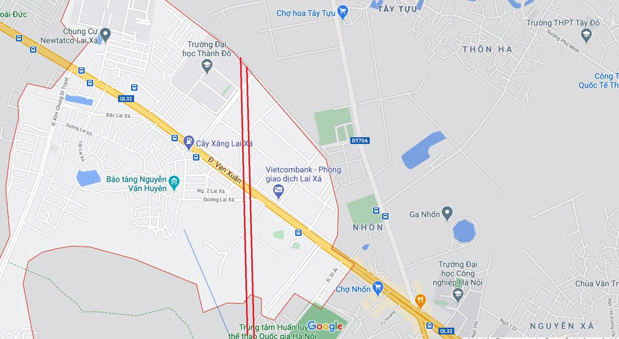 Ba đường sẽ mở theo qui hoạch ở xã Kim Chung, Hoài Đức, Hà Nội - Ảnh 2.