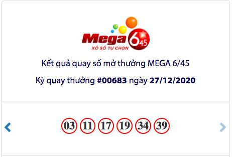 Kết quả Vietlott Mega 6/45 ngày 27/12: Jackpot hơn 85,5 tỉ đồng vắng chủ nhân - Ảnh 1.