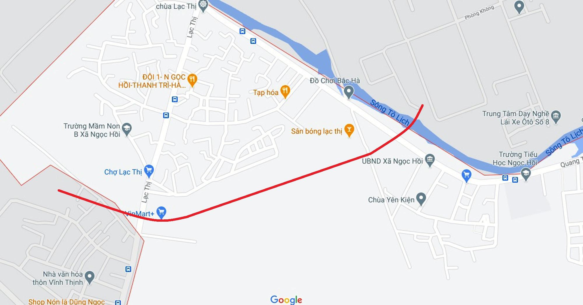 Ba đường sẽ mở theo quy hoạch ở xã Ngọc Hồi, Thanh Trì, Hà Nội - Ảnh 2.