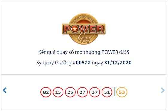 Kết quả Vietlott Power 6/55 ngày 31/12: Jackpot hơn 81 tỉ đồng đã tìm thấy chủ nhân   - Ảnh 1.