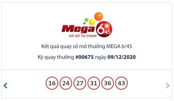 Kết quả Vietlott Mega 6/45 ngày 9/12: Jackpot gần 45,3 tỉ đồng tiếp tục vô chủ - Ảnh 1.