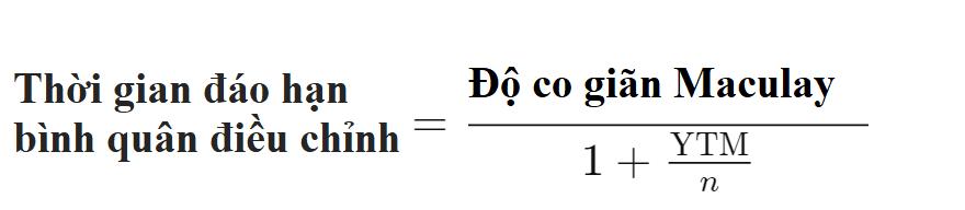 Thời gian đáo hạn bình quân điều chỉnh (Modified Duration) là gì? Đặc điểm - Ảnh 3.