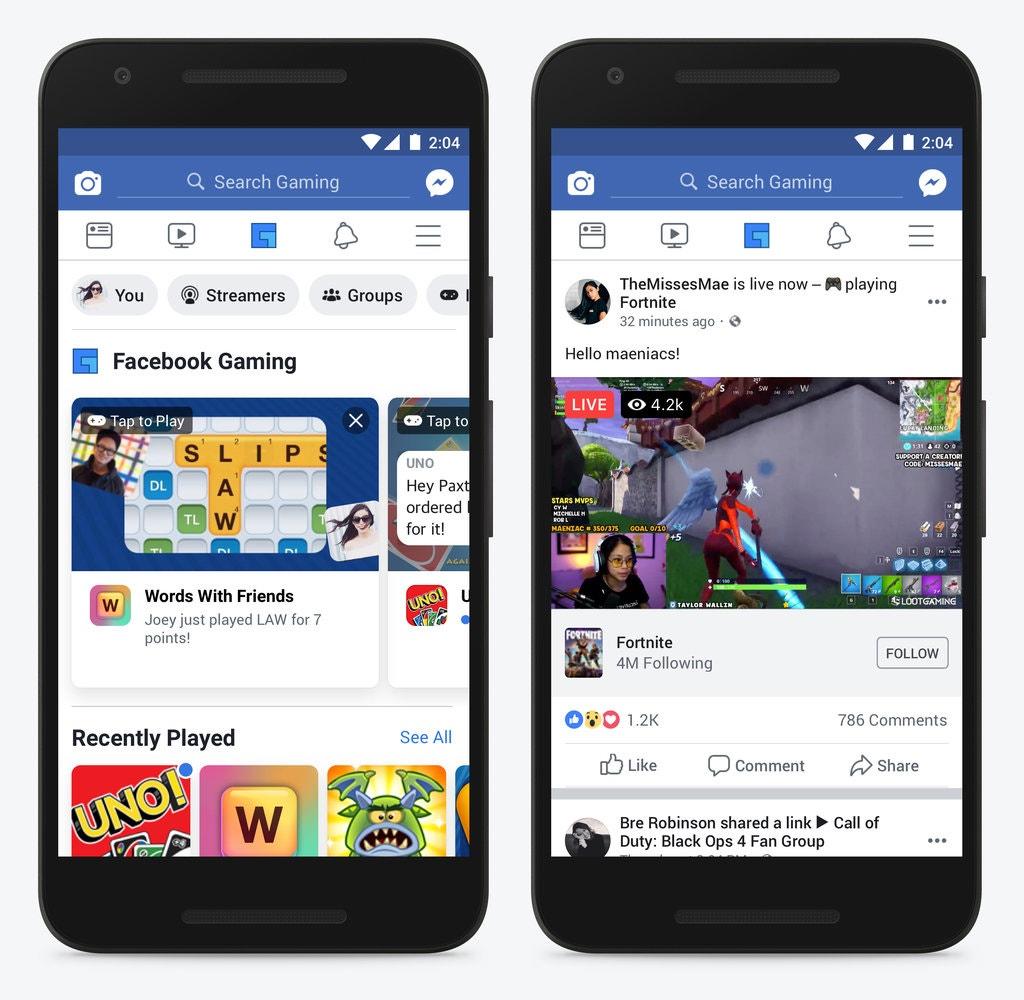 Facebook ra mắt Facebook Gaming từ 20/4.