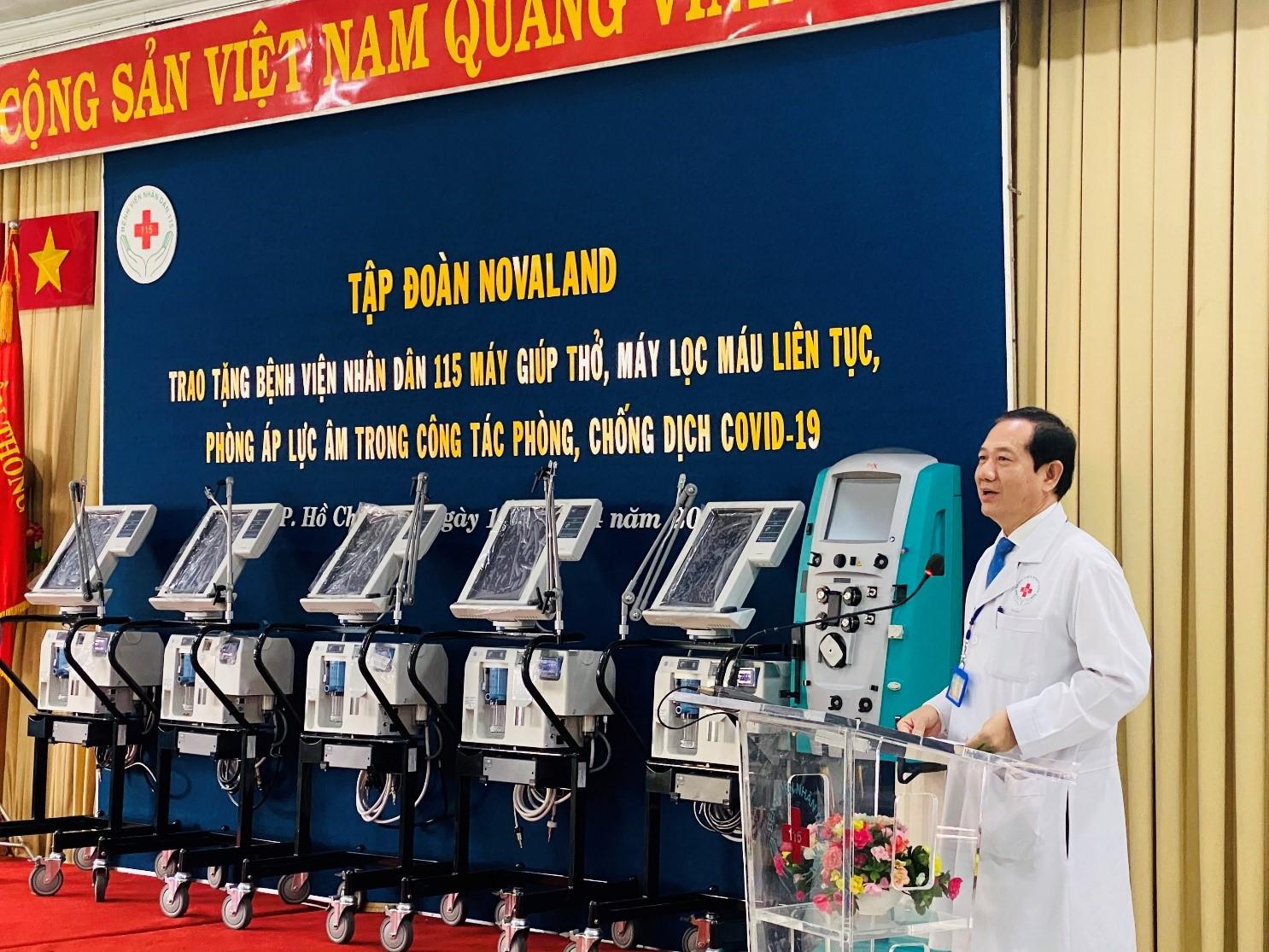 Novaland trao tặng trang thiết bị y tế trị giá 10 tỉ đồng tại Bệnh viện Nhân dân 115 - Ảnh 1.