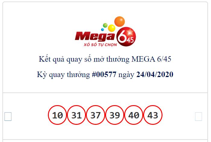 Kết quả Vietlott Mega 6/45 ngày 24/4: Jackpot hơn 15,5 tỉ đồng vắng chủ trong ngày đầu hoạt động trở lại - Ảnh 1.