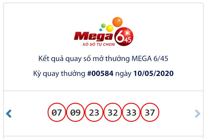 Kết quả Vietlott Mega 6/45 ngày 10/5: Jackpot vẫn hụt chủ dù đạt hơn 25,7 tỉ đồng - Ảnh 1.