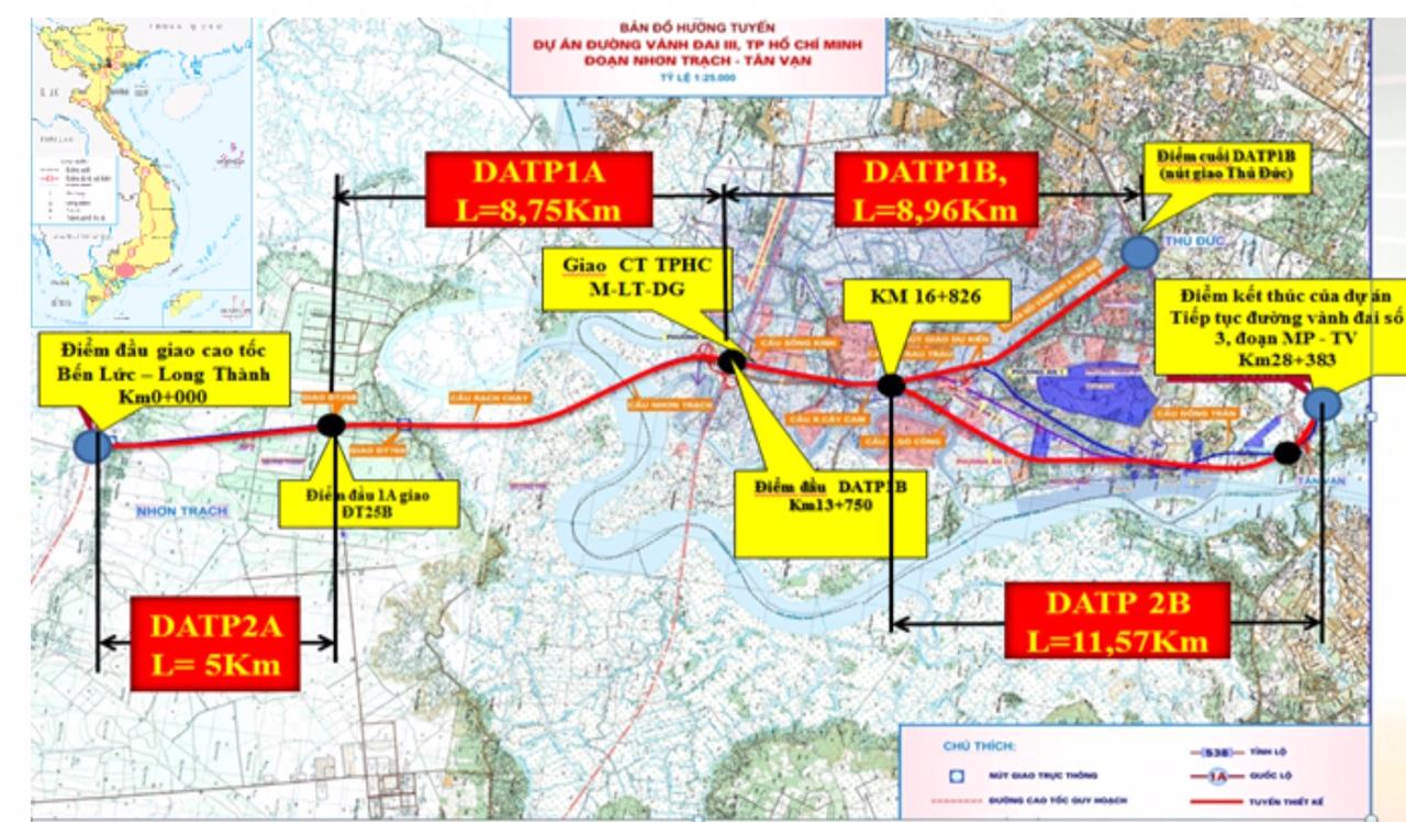 Đề xuất đầu tư 6.660 tỉ đồng xây 16 km đường vành đai 3 TP HCM đoạn đoạn Tân Vạn – Nhơn Trạch - Ảnh 1.