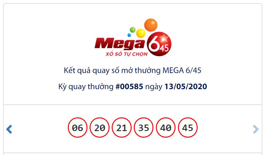 Kết quả Vietlott Mega 6/45 ngày 13/5: Jackpot vẫn chưa có tiếng 'nổ' mới khi đạt hơn 27,3 tỉ đồng - Ảnh 1.