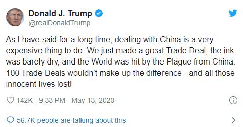 Tổng thống Trump: '100 thỏa thuận thương mại' cũng không đủ bù đắp tổn thất COVID-19 gây ra cho nước Mỹ - Ảnh 2.