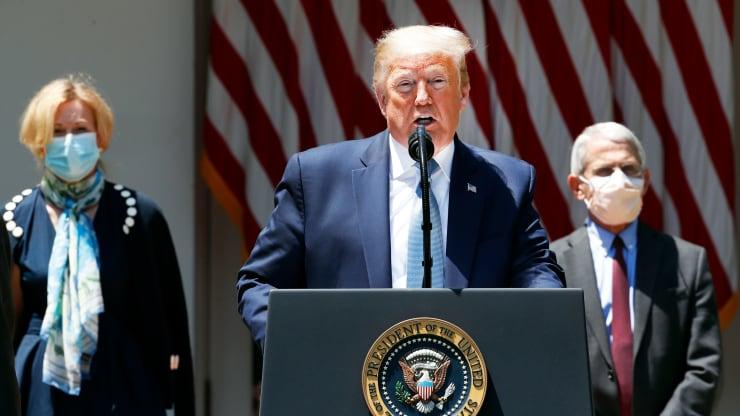 Tổng thống Trump: 'Không có vắc xin thì đại dịch COVID-19 cũng sẽ tự biến mất vào một lúc nào đó' - Ảnh 1.