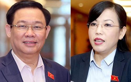 Tổng thư ký Quốc hội nói về việc miễn nhiệm ông Vương Đình Huệ, bà Nguyễn Thanh Hải - Ảnh 1.