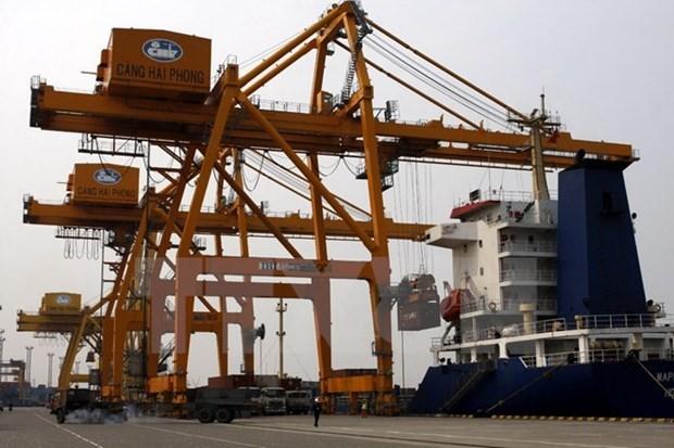 Cảng Container quốc tế Tân cảng Hải Phòng đón tàu siêu trọng tải - Ảnh 1.