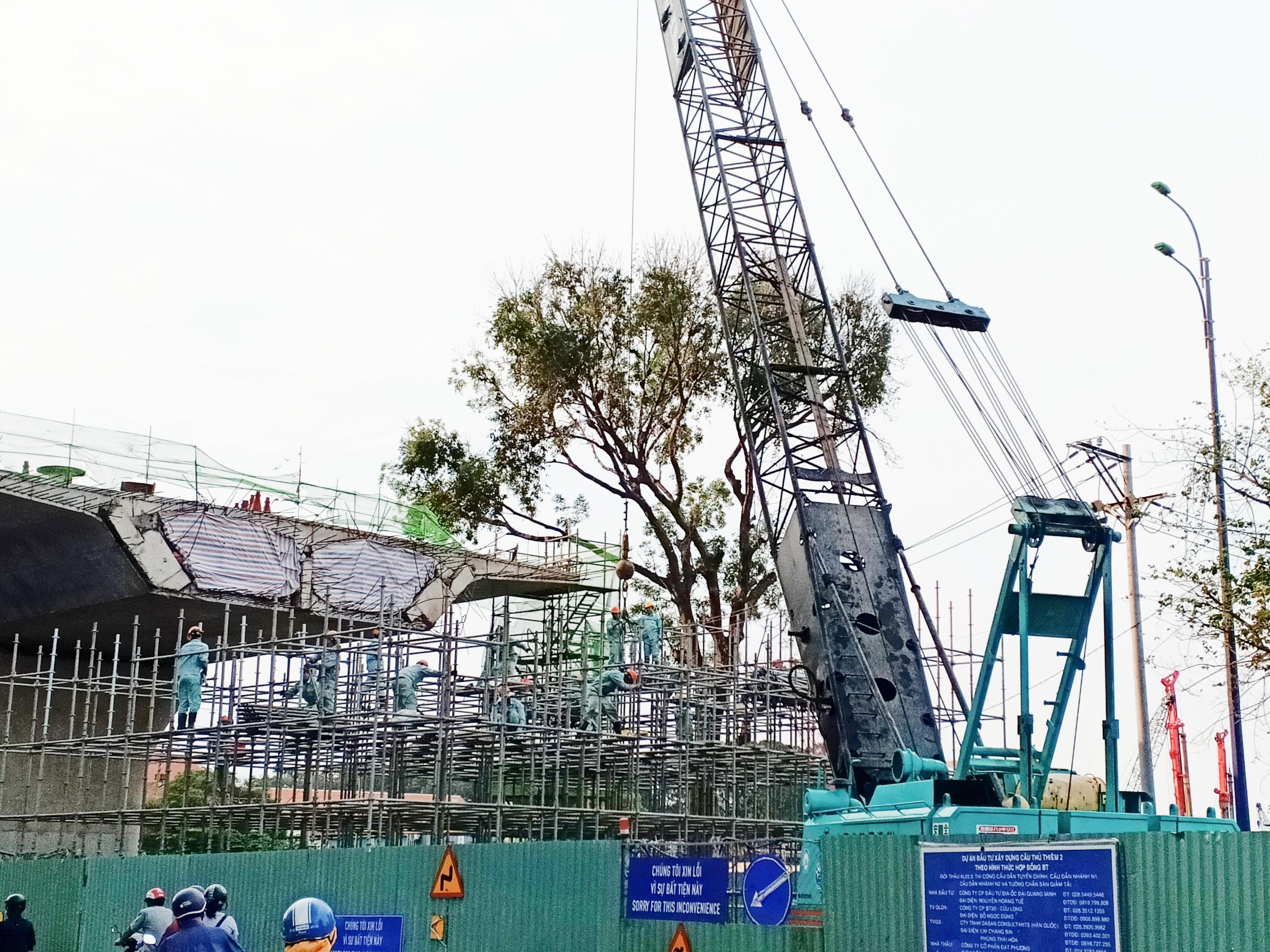 Cầu Thủ Thiêm 2 sẽ thông xe kĩ thuật cuối năm 2020 - Ảnh 1.