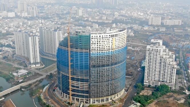 Con đường ven sông trị giá 'tỉ đô' ở Sài Gòn nhìn từ trên cao - Ảnh 3.