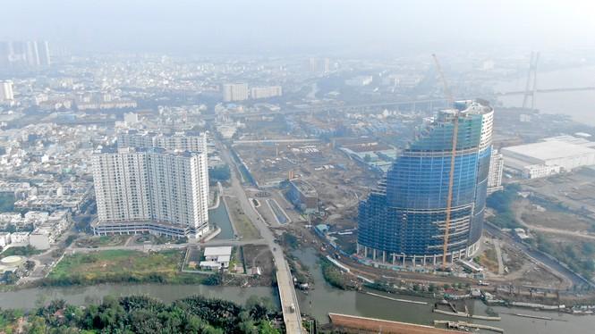 Con đường ven sông trị giá 'tỉ đô' ở Sài Gòn nhìn từ trên cao - Ảnh 4.