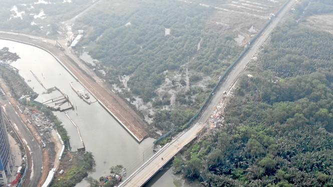 Con đường ven sông trị giá 'tỉ đô' ở Sài Gòn nhìn từ trên cao - Ảnh 5.