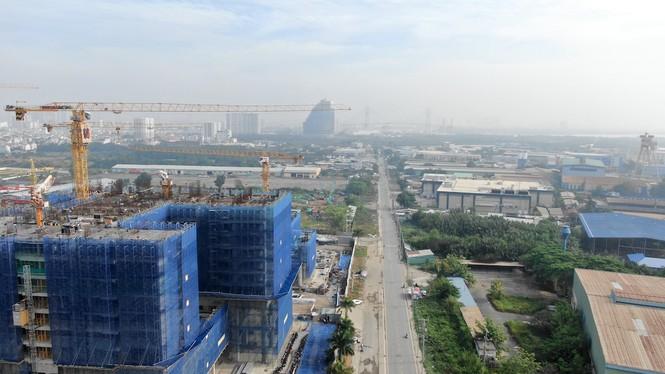 Con đường ven sông trị giá 'tỉ đô' ở Sài Gòn nhìn từ trên cao - Ảnh 18.