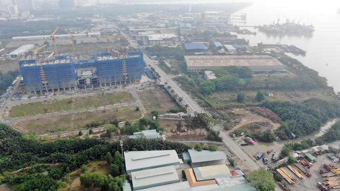 Con đường ven sông trị giá 'tỉ đô' ở Sài Gòn nhìn từ trên cao - Ảnh 14.