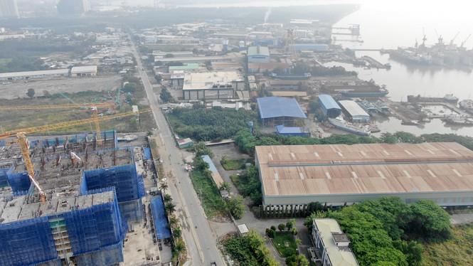 Con đường ven sông trị giá 'tỉ đô' ở Sài Gòn nhìn từ trên cao - Ảnh 15.