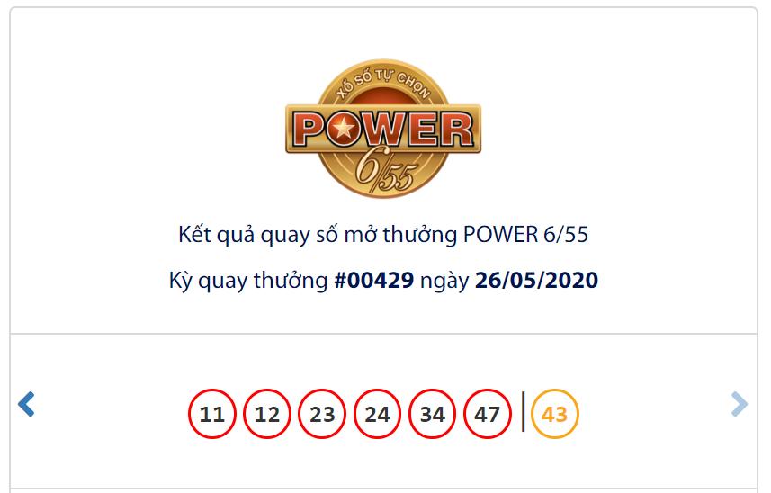 Kết quả Vietlott Power 6/55 ngày 26/5: Giải độc đắc trị giá hơn 39,1 tỉ đồng vẫn chưa chủ - Ảnh 1.