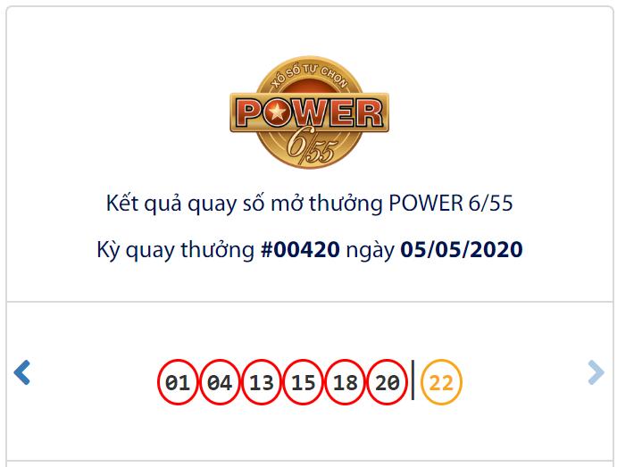 Kết quả Vietlott Power 6/55 ngày 5/5: Jackpot 2 'mở hàng' danh sách tỉ phú tháng 5 ở mốc gần 5 tỉ đồng  - Ảnh 1.