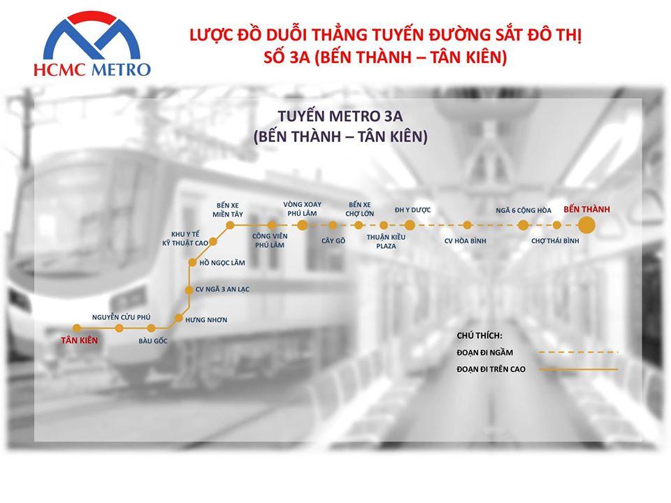 TP HCM đề xuất đầu tư xây dựng tuyến đường sắt đô thị số 3A gần 68.000 tỉ đồng - Ảnh 1.