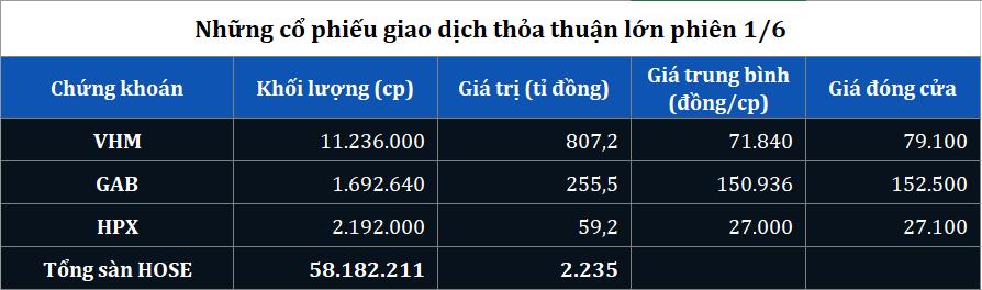 Giao dịch thỏa thuận khủng hơn 800 tỉ đồng cố phiểu VHM trong ngày Quốc tế thiếu nhi - Ảnh 1.