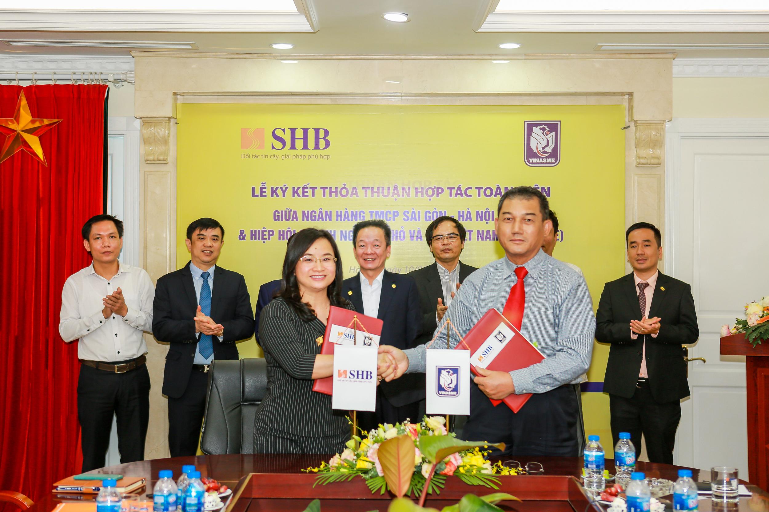 SHB và VINASME kí kết thỏa thuận hợp tác toàn diện  - Ảnh 1.