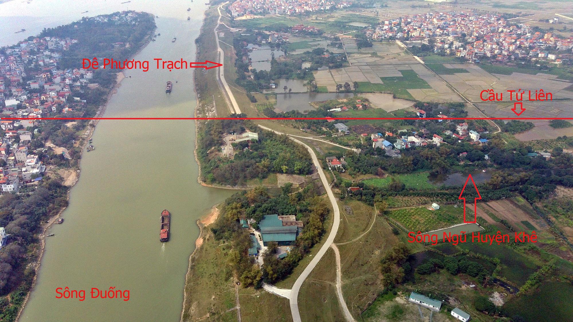 Cầu sẽ mở theo qui hoạch: Toàn cảnh cầu Tứ Liên nối hồ Tây với Đông Anh - Ảnh 2.