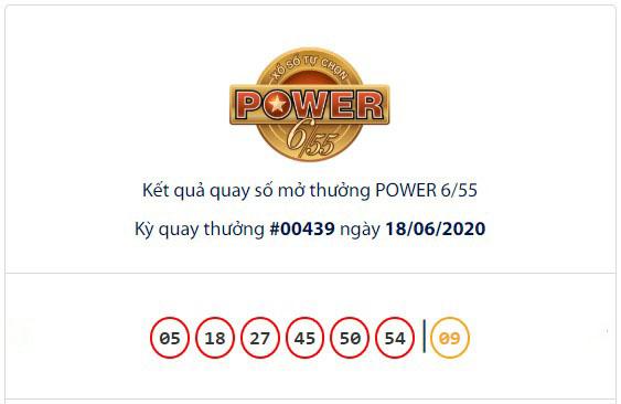 Kết quả Vietlott Power 6/55 ngày 18/6: Jackpot 2 trị giá hơn 3,1 tỉ đồng đã tìm ra chủ nhân mới - Ảnh 1.