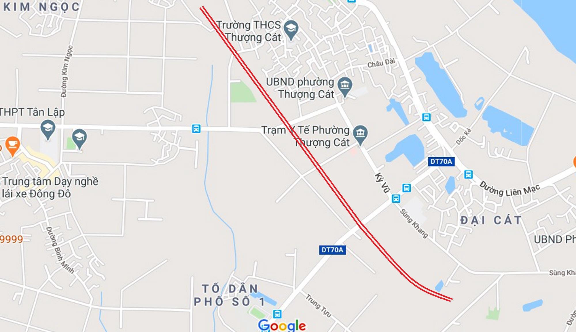 đường sẽ mở theo qui hoạch ở phường Thượng Cát, Bắc Từ Liêm, Hà Nội - Ảnh 2.