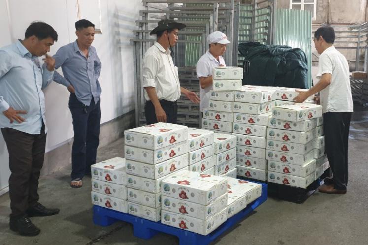 Lô vải thiều Việt Nam đầu tiên tại Nhật Bản bán với giá hơn 200.000 đồng/kg cháy hàng
