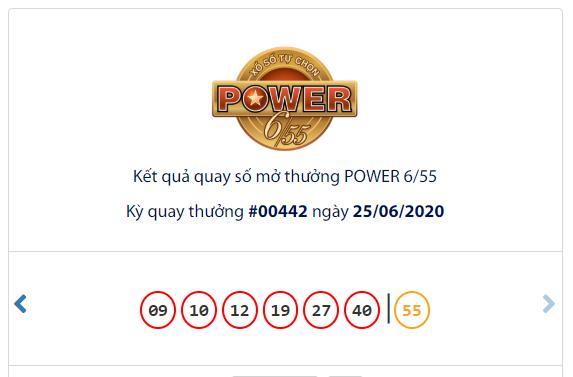 Kết quả Vietlott Power 6/55 ngày 25/6: Jackpot 2 lại 'nổ' với giá trị hơn 3,6 tỉ đồng - Ảnh 1.