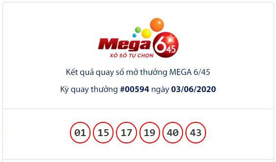 Kết quả Vietlott Mega 6/45 ngày 3/6: Jackpot giá trị hơn 54,2 tỉ đồng vẫn hụt chủ - Ảnh 1.