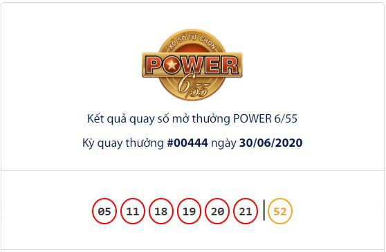 Kết quả Vietlott Power 6/55 ngày 30/6: Hụt chủ nhân giải Jackpot trị giá hơn 64,3 tỉ đồng - Ảnh 1.