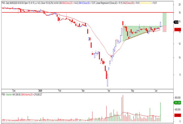 Cổ phiếu tâm điểm ngày 10/6: CVT, BMP, VJC, VTK, PVB - Ảnh 3.