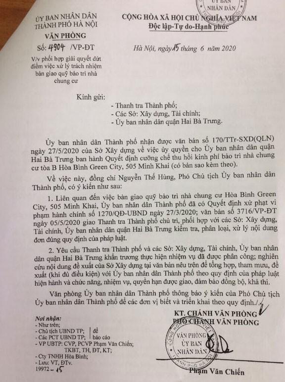 Hà Nội chỉ đạo thanh tra vào cuộc vụ chung cư 'dát vàng' om quĩ bảo trì - Ảnh 1.