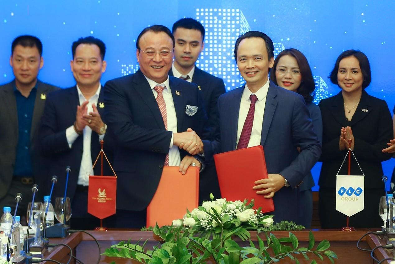 Tập đoàn FLC và Tân Hoàng Minh kí kết hợp tác chiến lược - Ảnh 1.