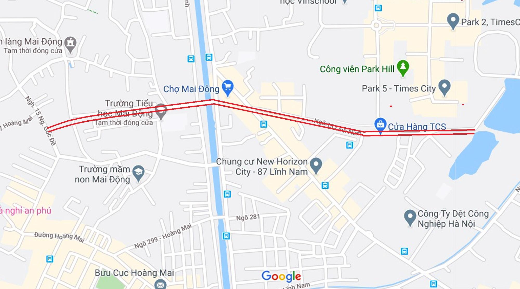 Ba đường sẽ mở theo qui hoạch ở phường Mai Động, Hoàng Mai, Hà Nội - Ảnh 2.