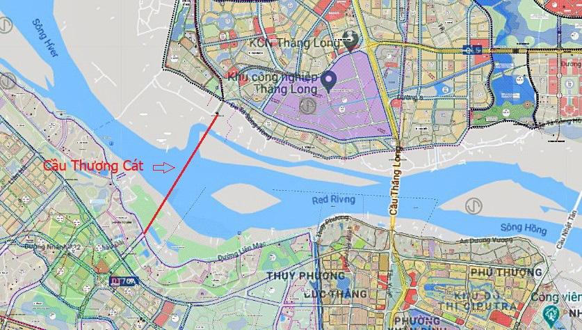 Cầu sẽ mở theo qui hoạch ở Hà Nội: Toàn cảnh cầu Thượng Cát nối Bắc Từ Liêm với Đông Anh - Ảnh 1.