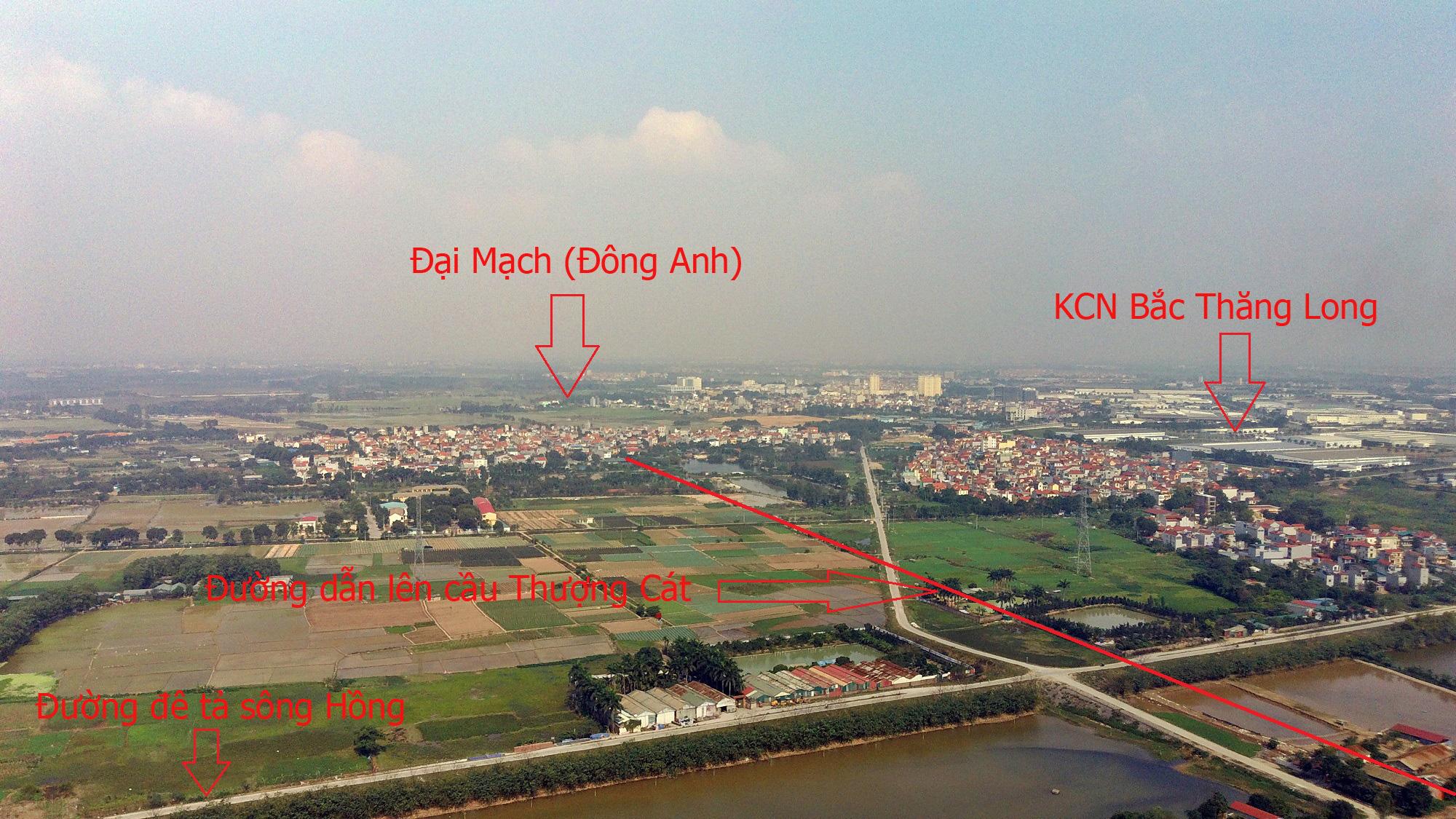 Cầu sẽ mở theo qui hoạch ở Hà Nội: Toàn cảnh cầu Thượng Cát nối Bắc Từ Liêm với Đông Anh - Ảnh 13.