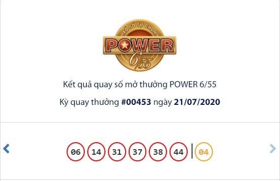 Kết quả Vietlott Power 6/55 ngày 21/7: Hụt chủ nhân giải Jackpot trị giá hơn 91,8 tỉ đồng  - Ảnh 1.