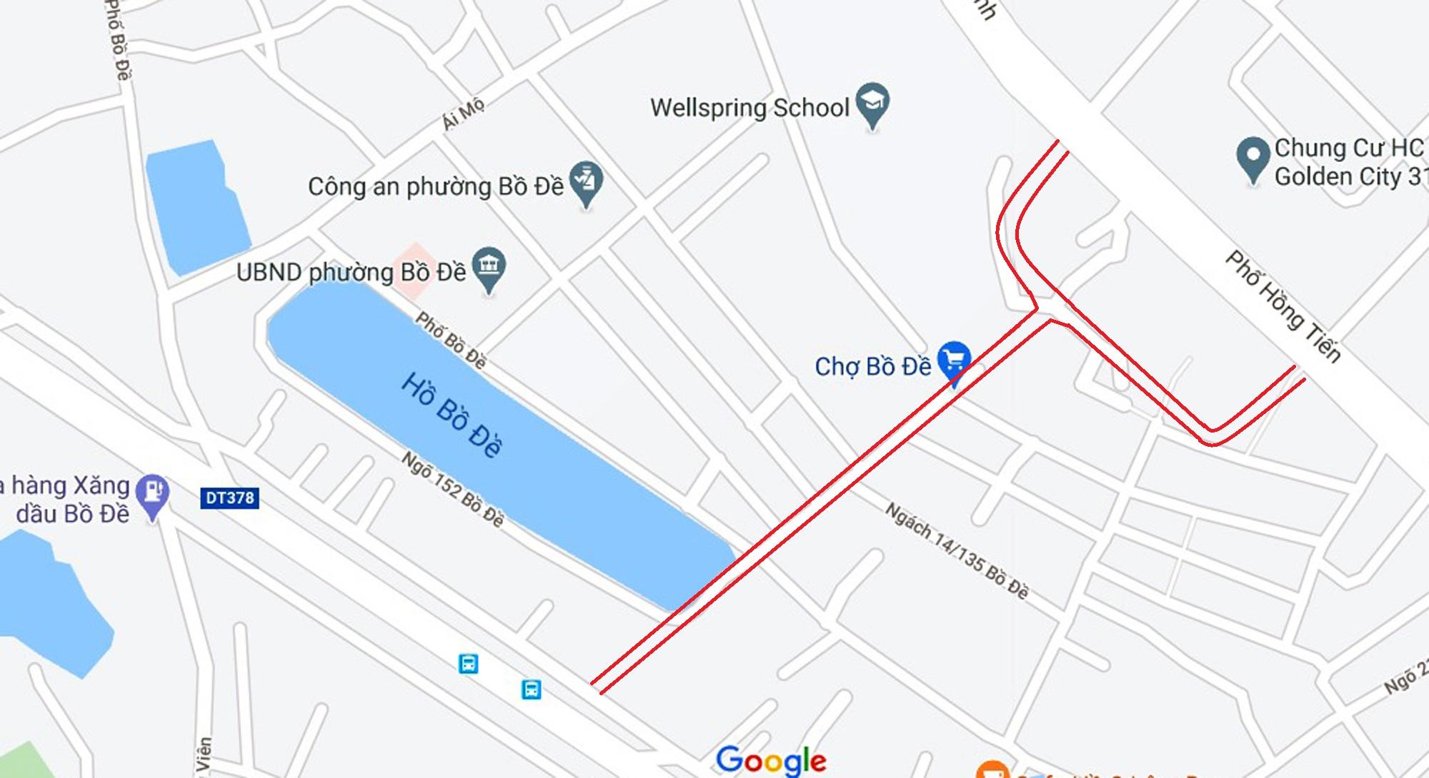 Hai đường sẽ mở theo qui hoạch ở phường Bồ Đề, Long Biên, Hà Nội - Ảnh 2.