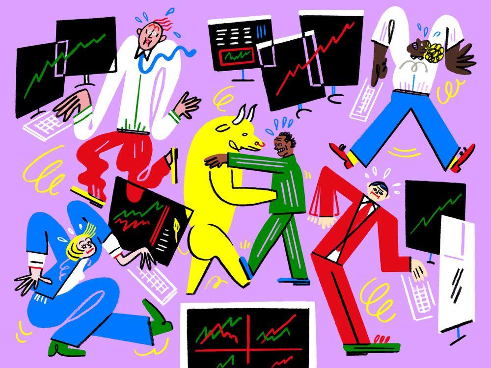 Nhà đầu tư Mỹ không thể ngừng nhảy múa theo vũ điệu của thị trường - Ảnh 1.