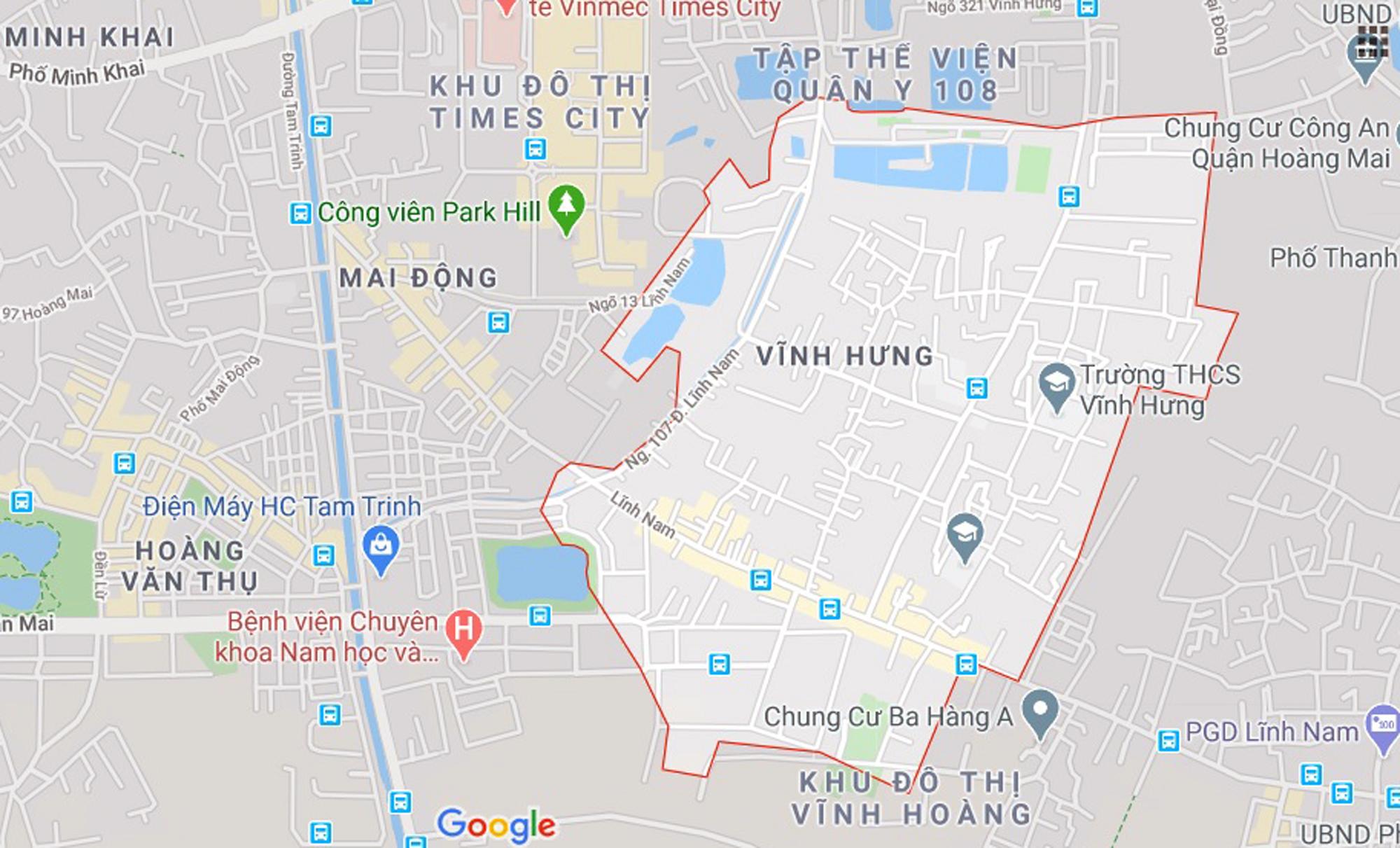 4 đường sẽ mở theo qui hoạch ở phường Vĩnh Hưng, Hoàng Mai, Hà Nội