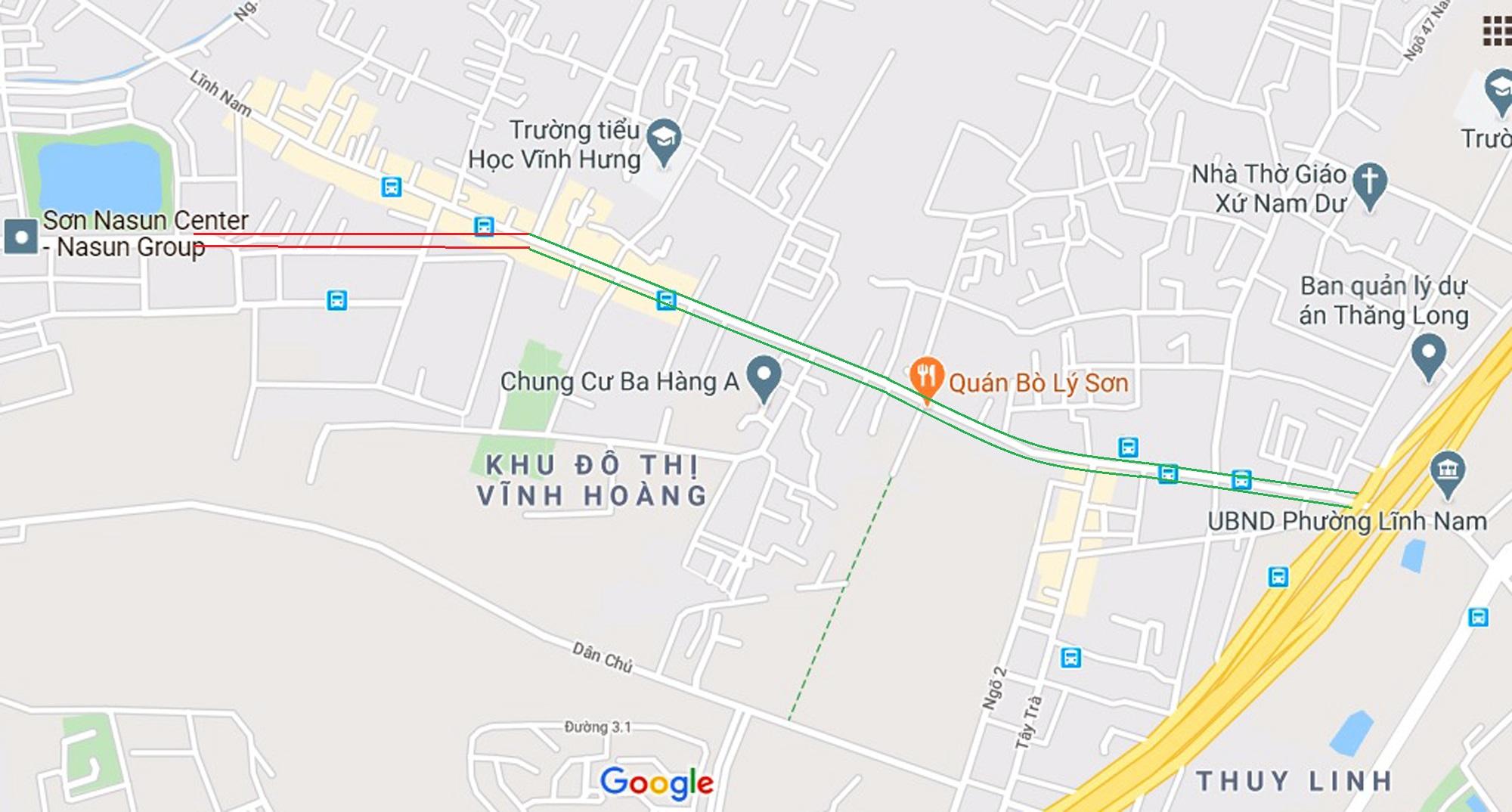 đường sẽ mở theo qui hoạch ở phường Lĩnh Nam, Hoàng Mai, Hà Nội - Ảnh 2.