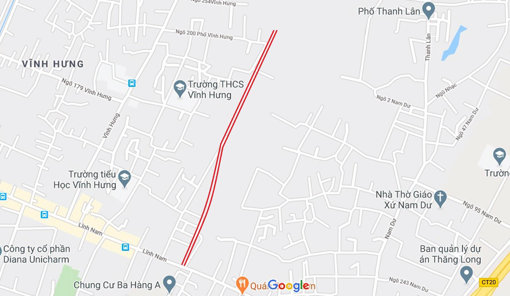 Ba đường sẽ mở theo qui hoạch ở phường Lĩnh Nam, Hoàng Mai, Hà Nội - Ảnh 10.