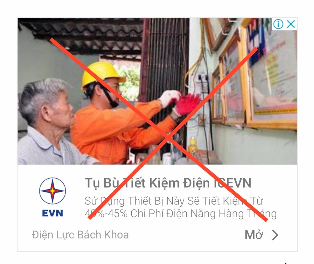 Xuất hiện các thông tin quảng cáo giả mạo thương hiệu EVN để bán hàng - Ảnh 3.