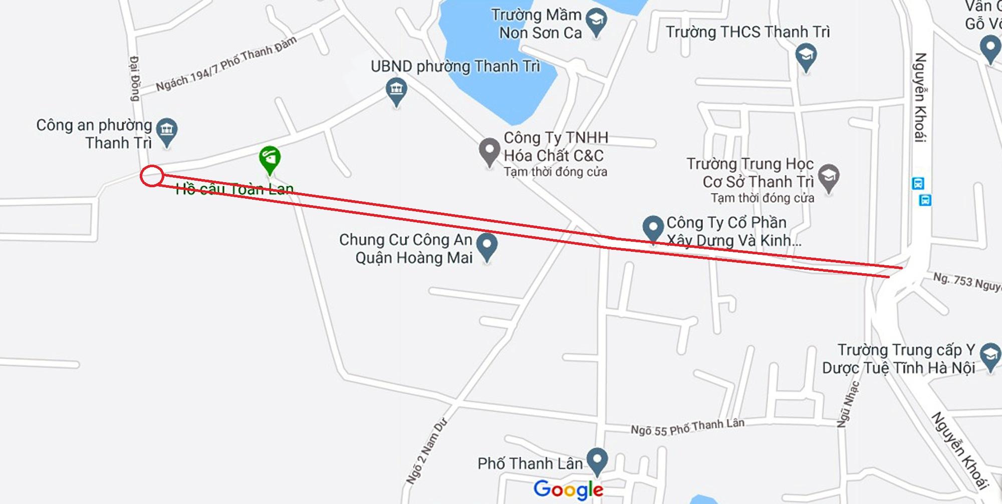 đường sẽ mở theo qui hoạch ở phường Thanh Trì, Hoàng Mai, Hà Nội - Ảnh 7.