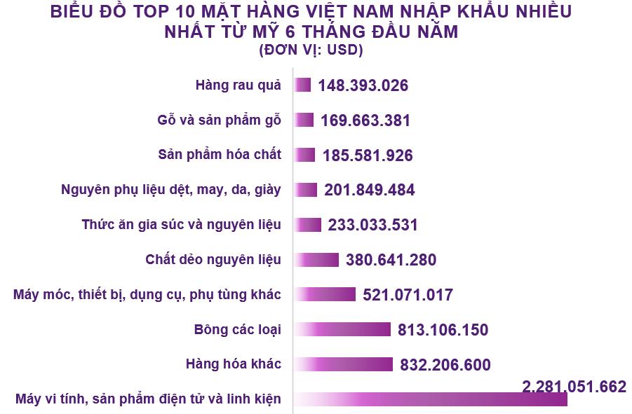 Xuất nhập khẩu Việt Nam và Mỹ tháng 6/2020: Việt Nam tiếp tục xuất siêu - Ảnh 5.